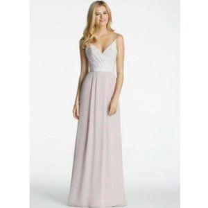 Hayley Paige Blush Pink Tuileries Bridemaids Dress